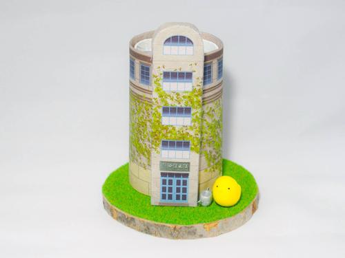 六供配水塔のペン立て